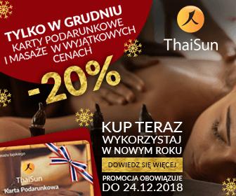 promocja swiateczna masaz tajski thaisun